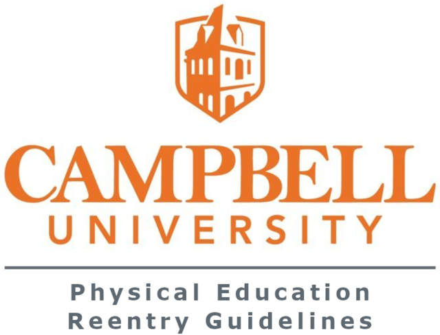 Campbell University PE Reentry Guidelines